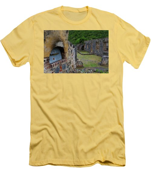 Men's T-Shirt (Slim Fit) featuring the photograph Annaberg Sugar Mill Ruins At U.s. Virgin Islands National Park by Jetson Nguyen