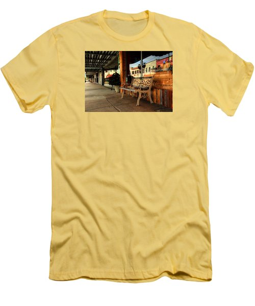 Antique Bench Men's T-Shirt (Slim Fit) by Ester Rogers