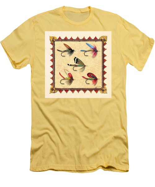 Antique Fly Panel Creme Men's T-Shirt (Slim Fit) by JQ Licensing