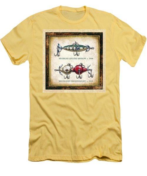 Antique Lure Panel Two Men's T-Shirt (Athletic Fit)