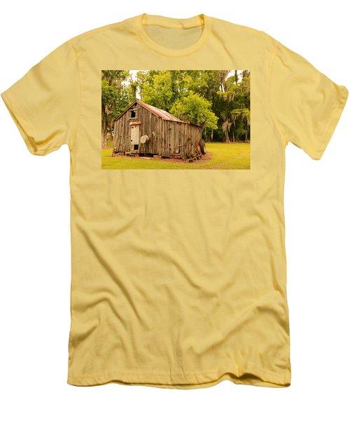 Antique Shed Men's T-Shirt (Slim Fit) by Ronald Olivier