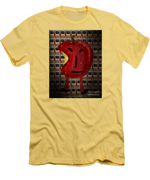 Men's T-Shirt (Slim Fit) featuring the digital art Apple Head by Megan Dirsa-DuBois