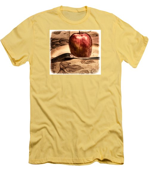 Men's T-Shirt (Slim Fit) featuring the photograph Apple by Lawrence Burry