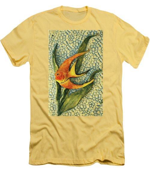 Men's T-Shirt (Slim Fit) featuring the photograph Aquarium On The Wall by Itzhak Richter