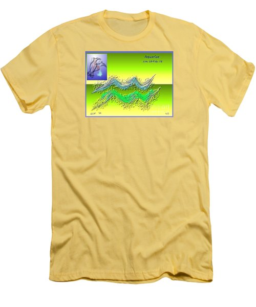 Men's T-Shirt (Slim Fit) featuring the digital art Aquarius By Alice Terrill And Will Baumol by The Art of Alice Terrill