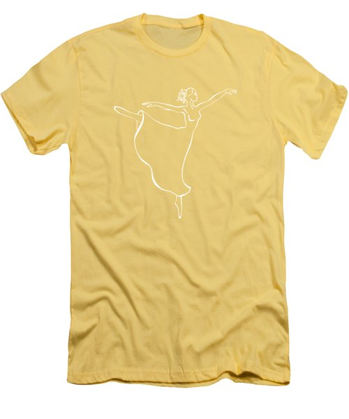 Arabesque Ballerina Men's T-Shirt (Athletic Fit)