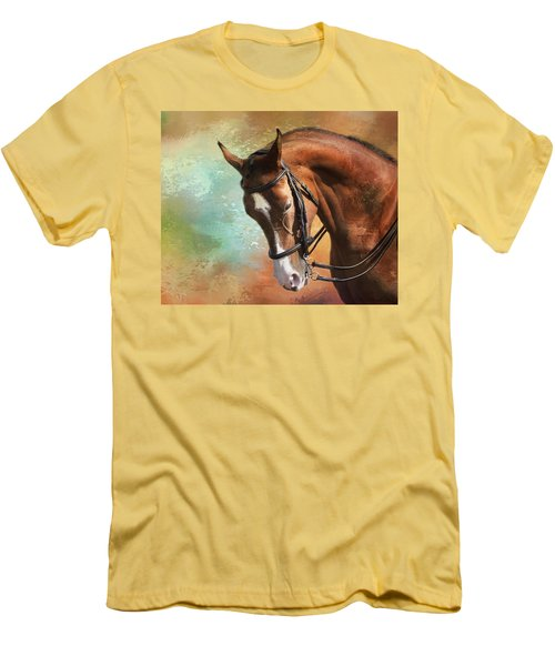 Men's T-Shirt (Slim Fit) featuring the photograph Arabian Horse by Theresa Tahara