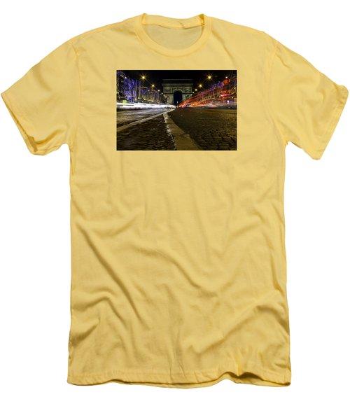 Arc D'triumph With Stripes Men's T-Shirt (Athletic Fit)