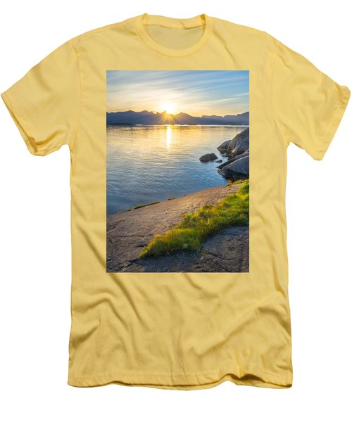 Arctic Sunrise Men's T-Shirt (Slim Fit) by Maciej Markiewicz