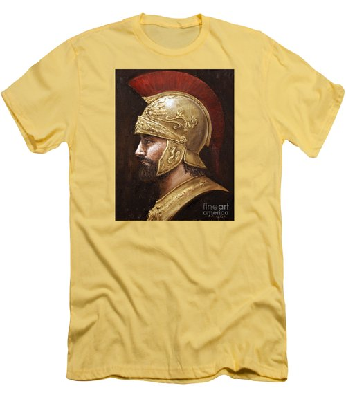 Men's T-Shirt (Slim Fit) featuring the painting Ares by Arturas Slapsys