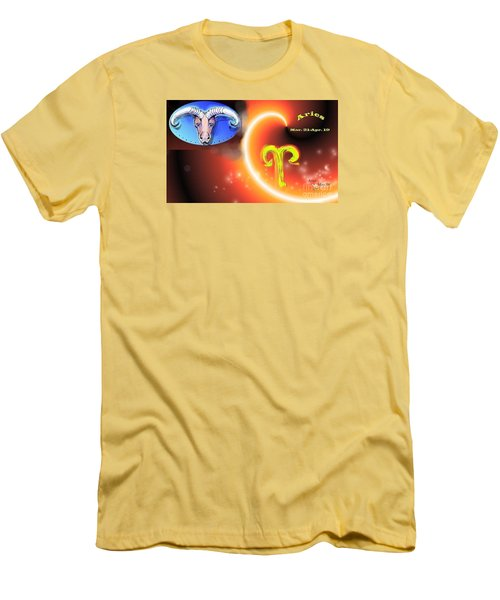 Men's T-Shirt (Slim Fit) featuring the painting Aries by The Art of Alice Terrill