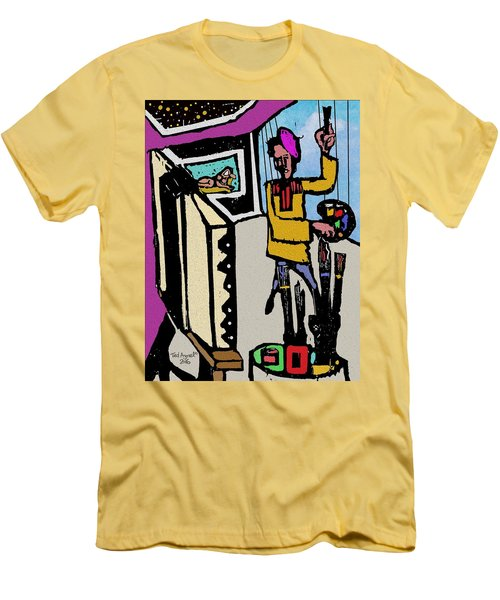 Artiste In The Studio Men's T-Shirt (Athletic Fit)