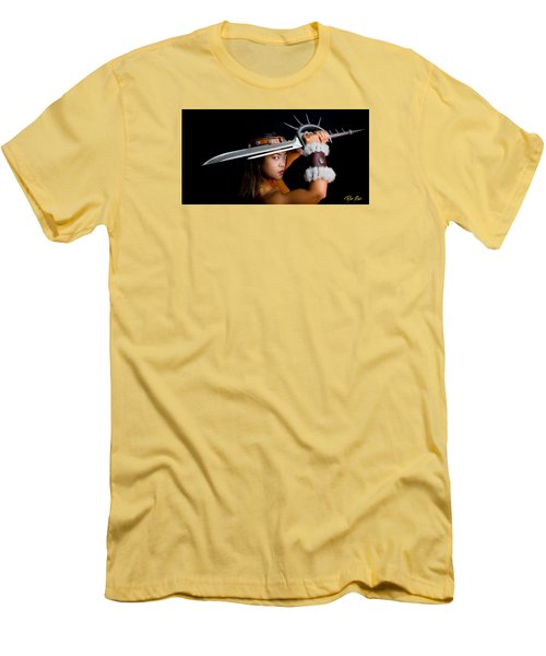Armed And Dangerous Men's T-Shirt (Slim Fit) by Rikk Flohr