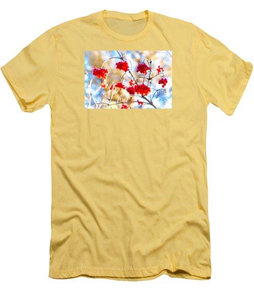 Men's T-Shirt (Slim Fit) featuring the photograph Arrowwood Berries by Alexander Senin