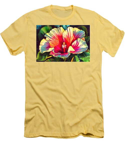 Art Floral Interior Design On Canvas Men's T-Shirt (Slim Fit) by Catherine Lott