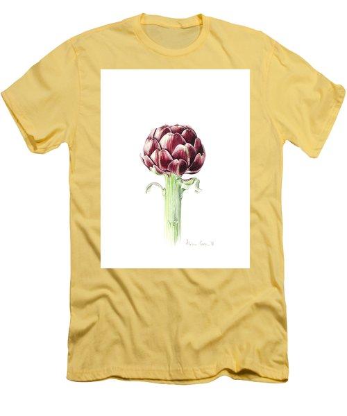 Artichoke From Roman Market Men's T-Shirt (Slim Fit) by Alison Cooper