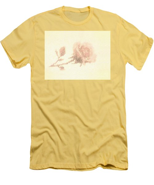 Men's T-Shirt (Slim Fit) featuring the photograph Artistic Etched Rose by Linda Phelps
