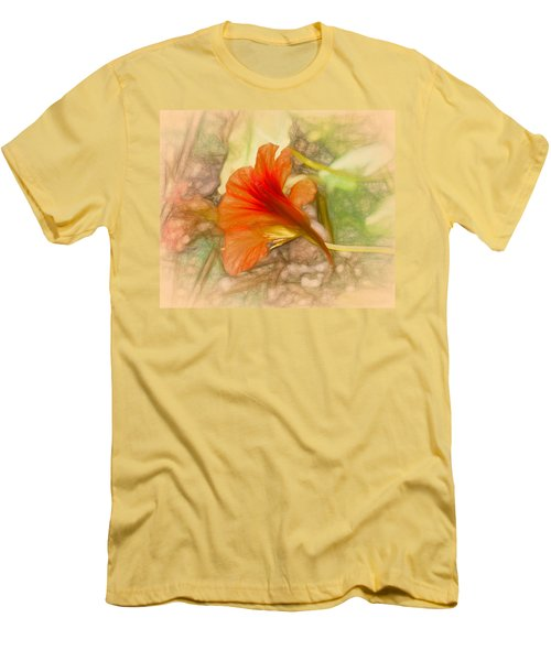 Artistic Red And Orange Men's T-Shirt (Slim Fit) by Leif Sohlman