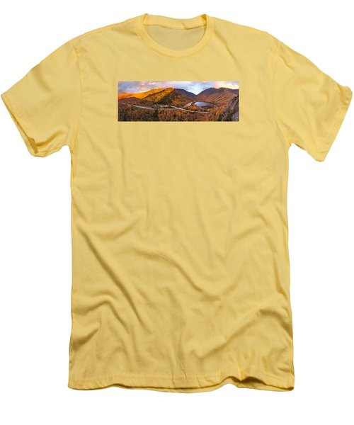 Artists Bluff Sunset Rainbow Men's T-Shirt (Athletic Fit)