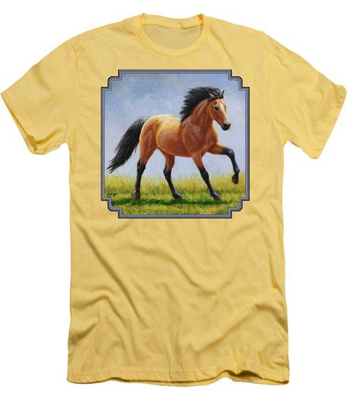 Buckskin Horse - Morning Run Men's T-Shirt (Athletic Fit)