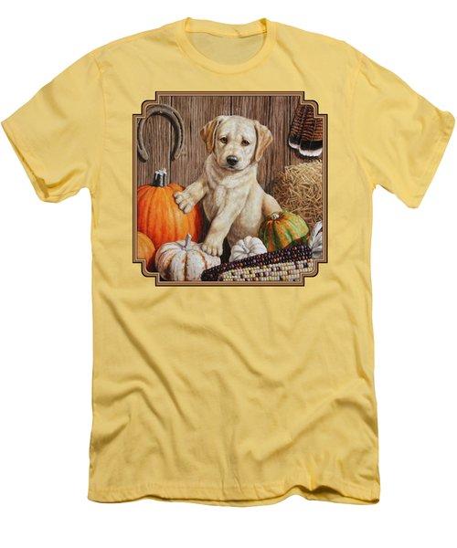 Pumpkin Puppy Men's T-Shirt (Athletic Fit)