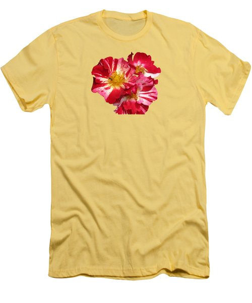 July 4th Rose Men's T-Shirt (Athletic Fit)