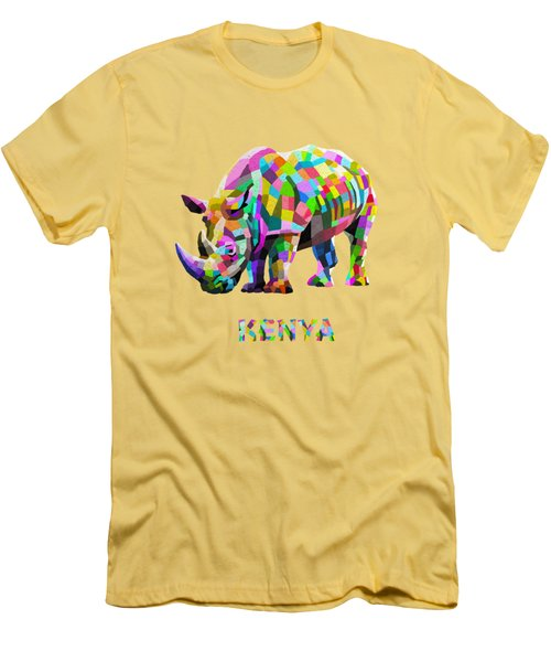 Wild Rainbow Men's T-Shirt (Slim Fit) by Anthony Mwangi