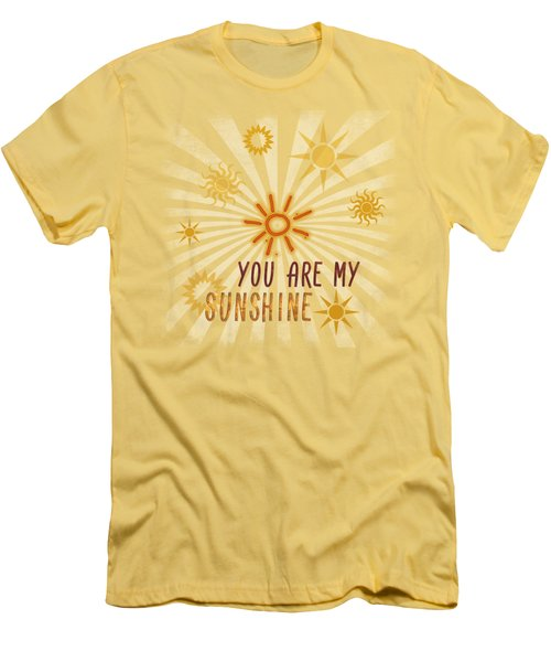 Men's T-Shirt (Slim Fit) featuring the digital art You Are My Sunshine by Jutta Maria Pusl