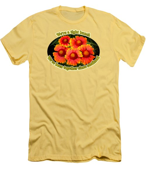 Bright Orange Gaillardia Men's T-Shirt (Athletic Fit)