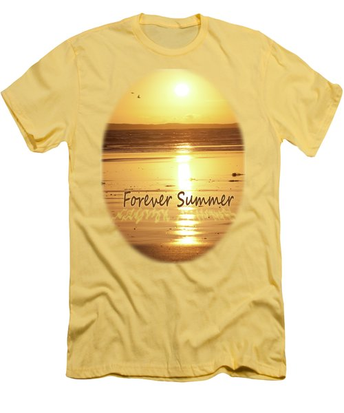 Men's T-Shirt (Slim Fit) featuring the photograph Forever Summer 4 by Linda Lees