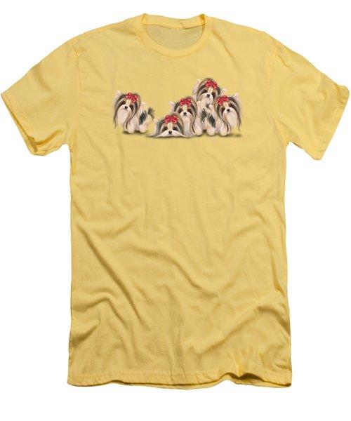 Biewer Pack Men's T-Shirt (Athletic Fit)