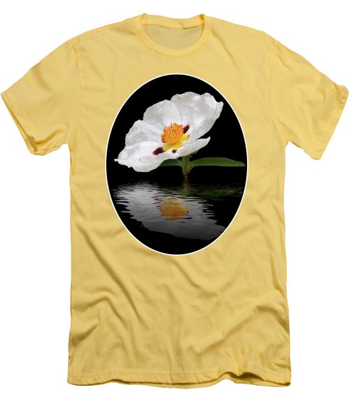Men's T-Shirt (Slim Fit) featuring the photograph Cistus Reflections by Gill Billington