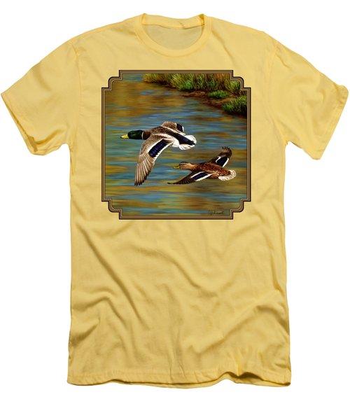 Golden Pond Men's T-Shirt (Slim Fit) by Crista Forest