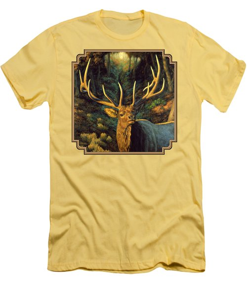 Elk Painting - Autumn Majesty Men's T-Shirt (Slim Fit) by Crista Forest