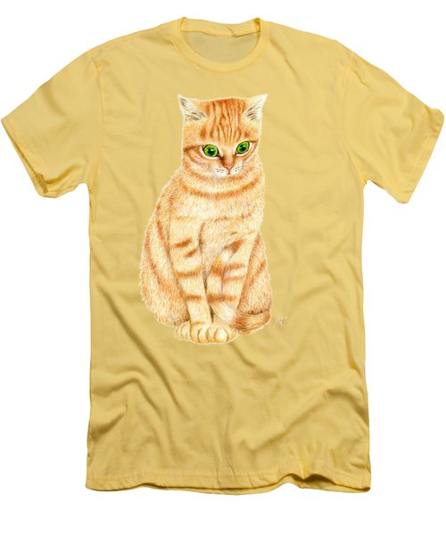 A Ginger Tabby Cat Men's T-Shirt (Athletic Fit)