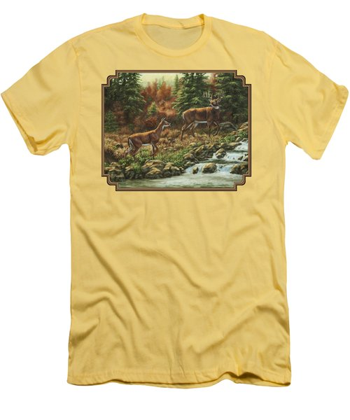 Whitetail Deer - Follow Me Men's T-Shirt (Athletic Fit)