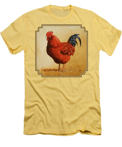 Rhode Island Red Rooster Men's T-Shirt (Athletic Fit)