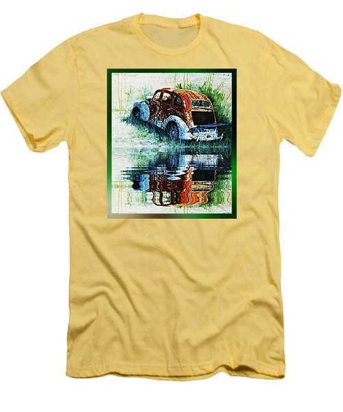 As Time Goes By. . . Men's T-Shirt (Slim Fit) by Hartmut Jager