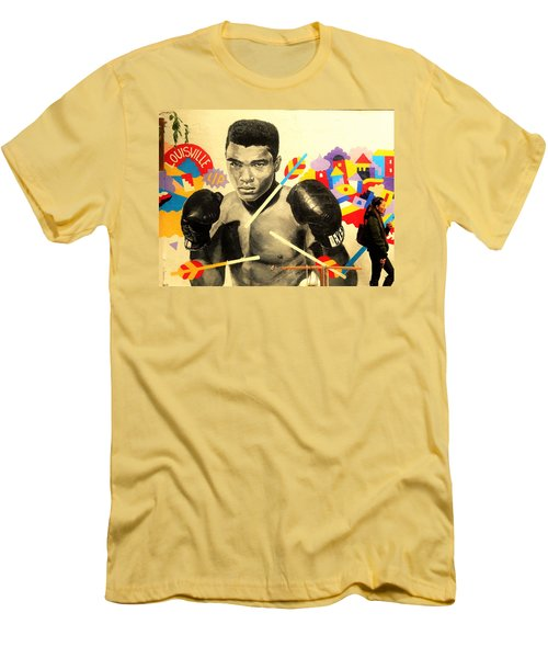 Asian Woman By Mohamed Ali In Brooklyn New York Men's T-Shirt (Slim Fit) by Funkpix Photo Hunter