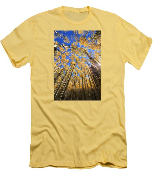 Men's T-Shirt (Slim Fit) featuring the photograph Aspen Hues by Tom Kelly