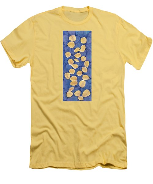 Aspen Leaves On Water Men's T-Shirt (Slim Fit) by Carolyn Doe