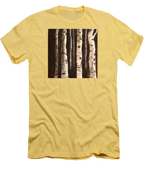 Aspen Stand Men's T-Shirt (Slim Fit) by Phyllis Howard