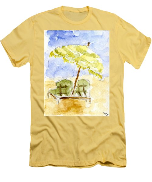 At The Beach Men's T-Shirt (Slim Fit) by Afinelyne