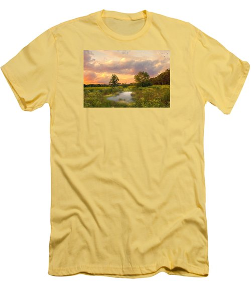 Men's T-Shirt (Slim Fit) featuring the photograph At The End Of The Day by John Rivera