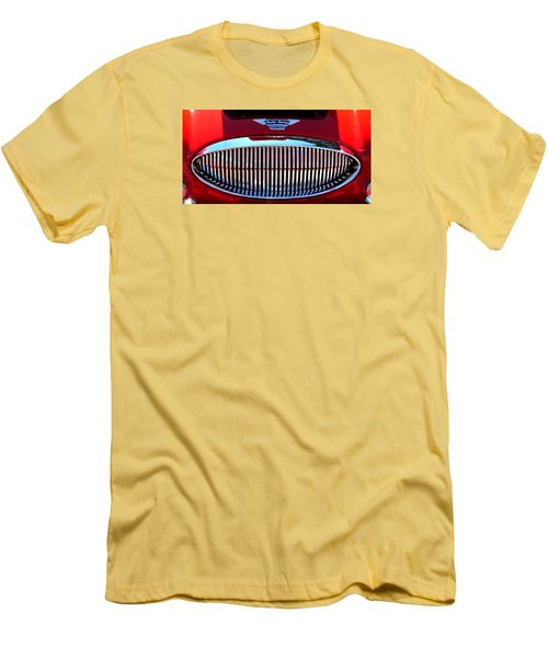 Men's T-Shirt (Slim Fit) featuring the photograph Austin Healey Grille by Spyder Webb