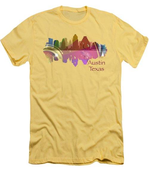 Austin Texas Skyline For Apparel Men's T-Shirt (Slim Fit) by Loretta Luglio
