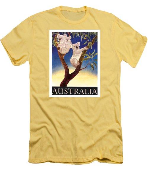 Australia Koala Vintage World Travel Poster By Eileen Mayo Men's T-Shirt (Athletic Fit)