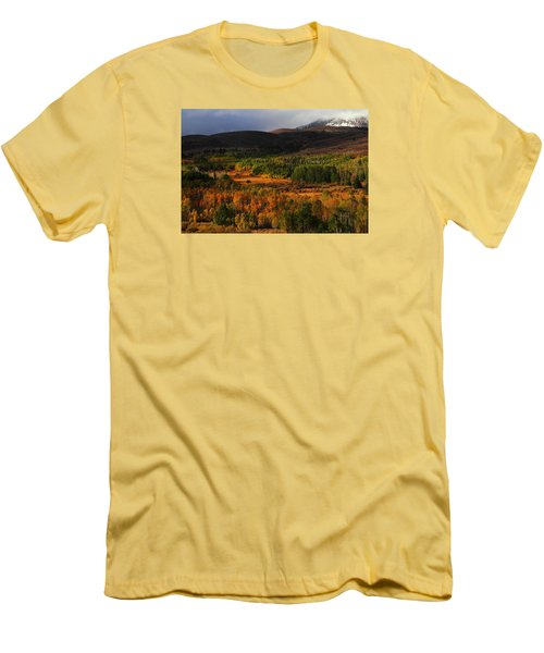 Autumn Aspen At Conway Summit In The Eastern Sierras Men's T-Shirt (Slim Fit) by Jetson Nguyen
