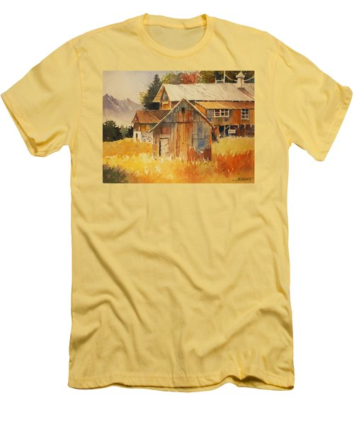 Autumn Barn And Sheds Men's T-Shirt (Slim Fit) by Al Brown