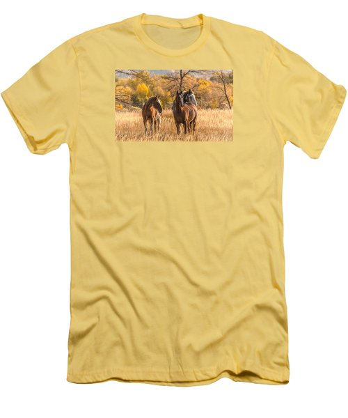 Men's T-Shirt (Slim Fit) featuring the photograph Autumn Beauty At Dawn by Yeates Photography